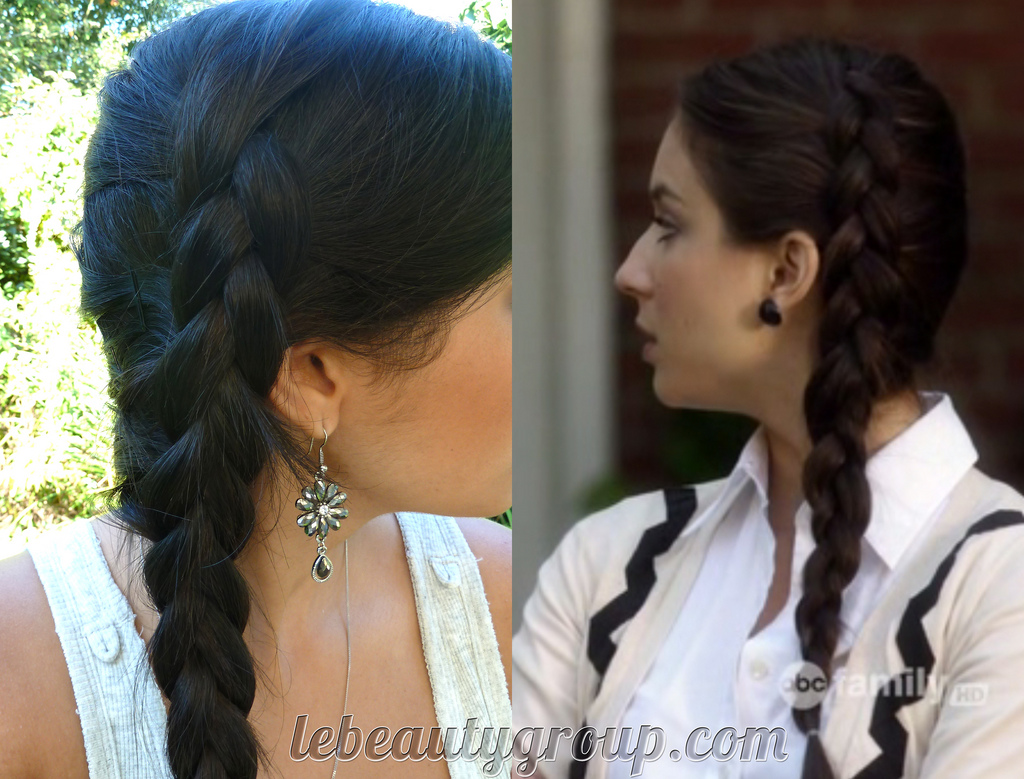 stocking cap weave hairstyles : Pretty Little Liars Look: Spencer?s Side Braid and Makeup
