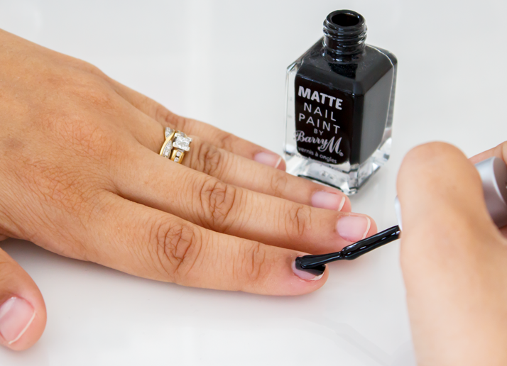 Barry M Matte Nail Paint in Espresso