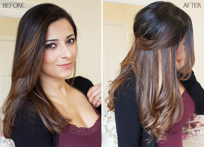 Foxy Highlighted Clip In Hair Extensions