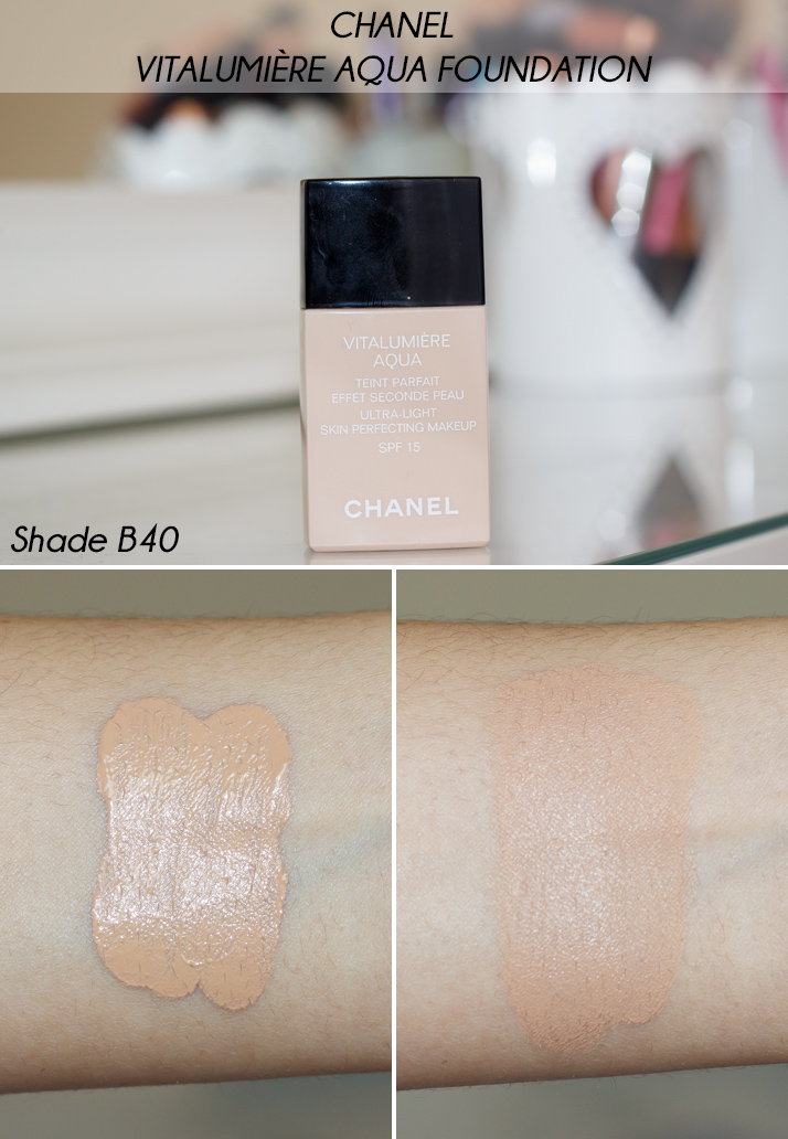 Chanel Vitalumiere Aqua Foundation B40