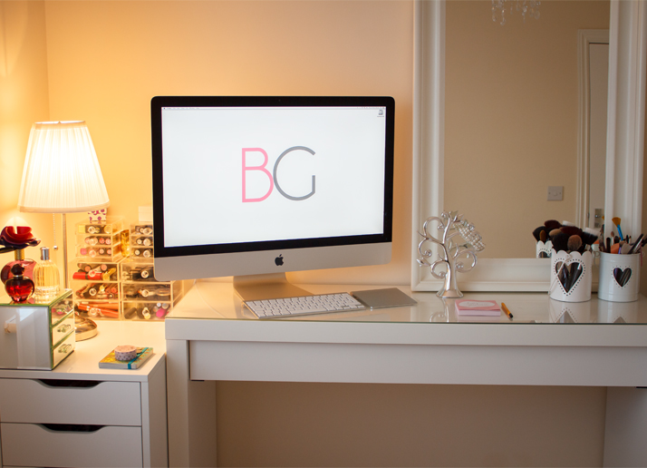 Room Tour Office Malm Dressing Table Makeup Collection~ Ikea Malm As Changing Table