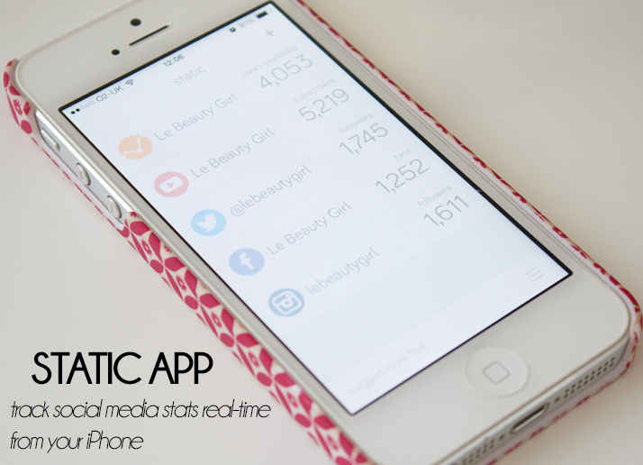 Static App by Pandabox Track Blog Stats on iPhone