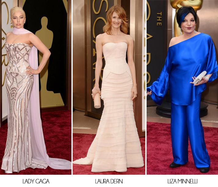 Oscars 2014 Lady Gaga Laura Dern Liza Minnelli
